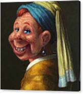Howdy With A Pearl Earring Canvas Print