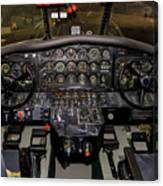 Hu-16b Albatross Cockpit Canvas Print