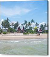 Huahin Beach View Canvas Print