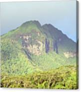 Huahine Forest And Mountaintop Canvas Print