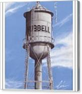 Hubbell Water Tower Poster Canvas Print