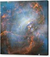 Hubble Captures The Beating Heart Of The Crab Nebula Canvas Print