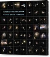 Hubble Galaxy Poster Canvas Print