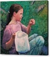 Huckleberry Picker Canvas Print