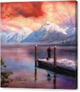 Hudson Bay Winter Fishing Canvas Print