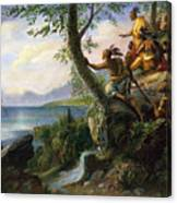 Hudson: New York, 1609 Canvas Print