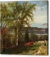 Hudson River At Croton Point Canvas Print