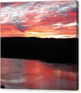 Hudson River Sunrise Canvas Print