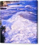 Huge Wave In Ligurian Sea Canvas Print