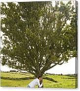 Hugging The Fairy Tree In Ireland Canvas Print