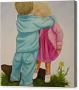 Hugs Are Magic Canvas Print
