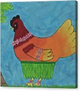 Hula Hen Canvas Print