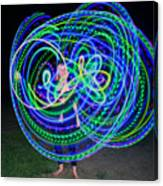 Hula Hoop In Light Canvas Print