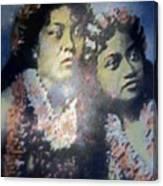 Hula Kaika Ma Hine Canvas Print