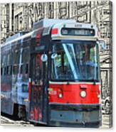 Humber Bound Streetcar On Queen Street Canvas Print