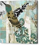 Hummingbird Batik Canvas Print
