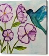 Hummingbird Blue Canvas Print