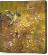Hummingbird In Hydrangeas Canvas Print