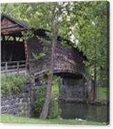 Humpback Covered Bridge In Covington Virginia Canvas Print