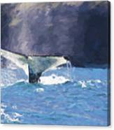 Humpback Whale Fluke Canvas Print
