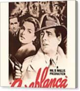 Humphrey Bogard And Ingrid Bergman In Casablanca 1942 Canvas Print
