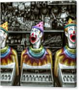 Hungry Clowns Canvas Print