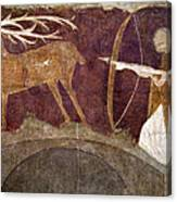 Hunting, 12th Century Canvas Print