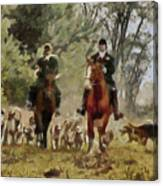 Hunting Dogs For Wild Boar Canvas Print