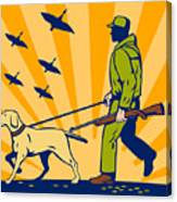 Hunting Gun Dog Canvas Print