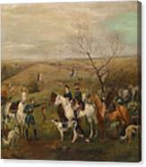 Hunting Party With Tsar Alexander IIi. And Zarina Maria Fedorovna Canvas Print