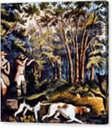 Hunting: Woodcock, 1852 Canvas Print