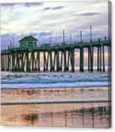 Huntington Beach Pier Panorama Colo Canvas Print