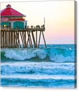 Huntington Pier Canvas Print
