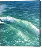 Huntington Small Waves  Canvas Print