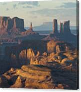 Hunt's Mesa View 7602 Canvas Print