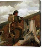 A Huntsman And Dogs Canvas Print