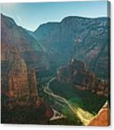 Hurricane Canyon In Utah Usa Canvas Print