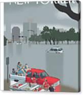 Hurricane Harvey Canvas Print