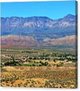 Hurricane Utah And Red Cliffs Nca Canvas Print