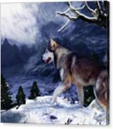 Husky - Mountain Spirit Canvas Print