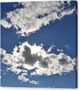 Huson River Clouds 1 Canvas Print