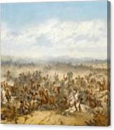 Hussars At The Battle Canvas Print