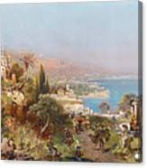 Hustle And Bustle In A Southern Harbour City Canvas Print
