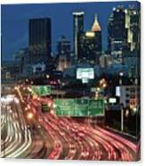 Hustle And Bustle Of Atlanta Roadways Canvas Print