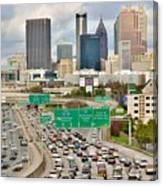 Hustle And Bustle On The Highways And Byways Canvas Print