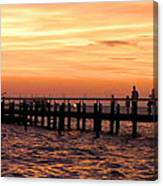 Hut Pier In The Outer Banks Canvas Print