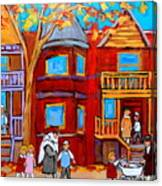 Hutchison Street Sabbath In Montreal Canvas Print