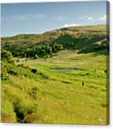 Hutton's Bog View. Holyrood Park. Canvas Print