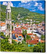 Hvar Architecture And Nature Vertical View Canvas Print