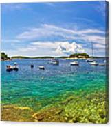 Hvar Yachting Beach Panoramic View Canvas Print